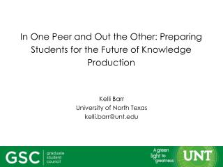 In One Peer and Out the Other: Preparing Students for the Future of Knowledge Production