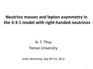 Neutrino masses and l epton asymmetry in the 3-3-1  model with right-handed  neutrinos