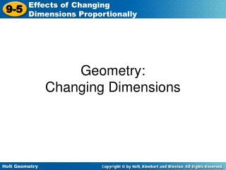 Geometry: Changing Dimensions