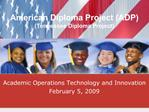 American Diploma Project ADP Tennessee Diploma Project