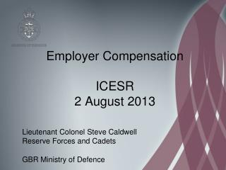 Employer Compensation ICESR 2 August 2013