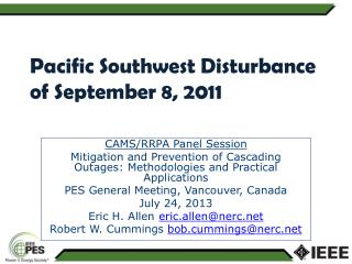 Pacific Southwest Disturbance of September 8, 2011