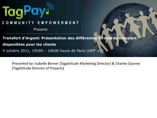 COMMUNITY EMPOWERMENT Presents :