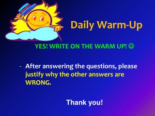 Daily Warm-Up
