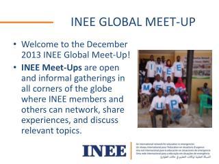 INEE GLOBAL MEET-UP