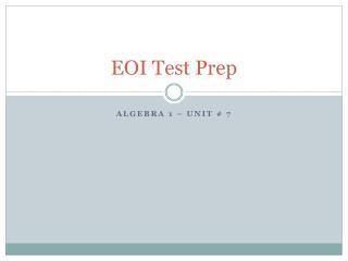 EOI Test Prep