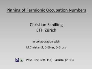 Pinning of Fermionic Occupation  Numbers