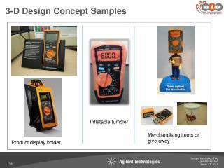 3-D Design Concept Samples
