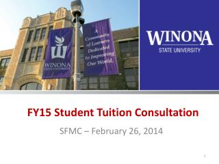 FY15 Student Tuition Consultation