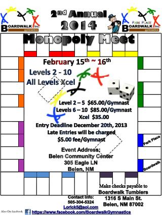 2 nd Annual 2014 Monopoly Meet