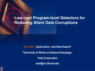 Low-cost Program-level Detectors for Reducing Silent Data Corruptions
