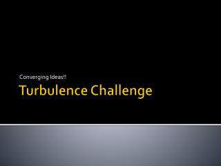 Turbulence Challenge