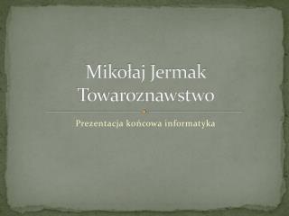 Mikołaj Jermak Towaroznawstwo