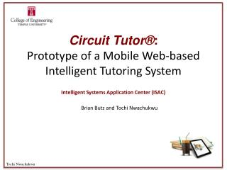 Circuit Tutor® : Prototype of a Mobile Web-based Intelligent Tutoring System