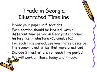 Trade in Georgia Illustrated Timeline