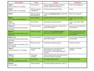 42D300 cems business project schedule 2