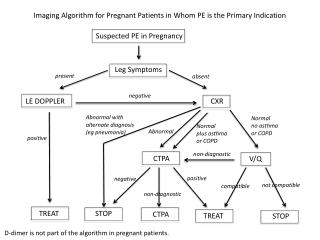Imaging Algorithm for Pregnant Patients in Whom PE is the Primary Indication