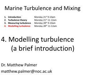 Marine Turbulence and Mixing