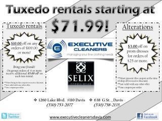 Tuxedo rentals starting at $71.99!