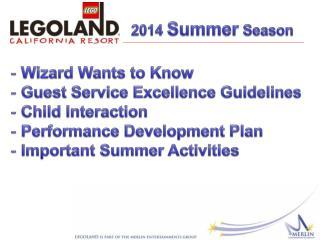 2014  Summer  Season