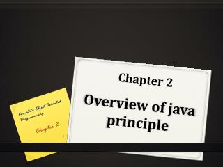 Overview of java principle