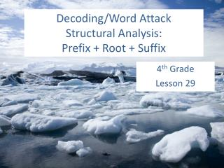 Decoding/Word Attack Structural Analysis:  Prefix + Root + Suffix