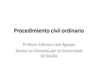Procedimiento civil ordinario