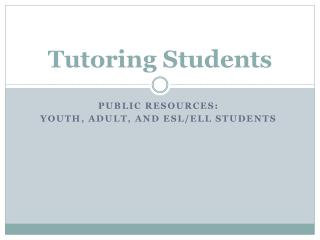 Tutoring Students