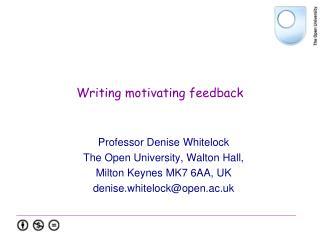 Writing motivating feedback