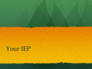 Your IEP