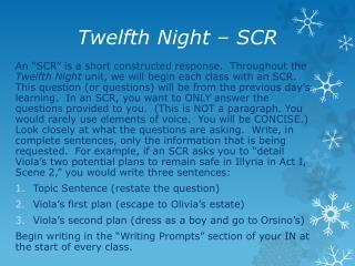 Twelfth Night – SCR