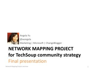 Network Mapping Project f or  TechSoup  community strategy Final presentation