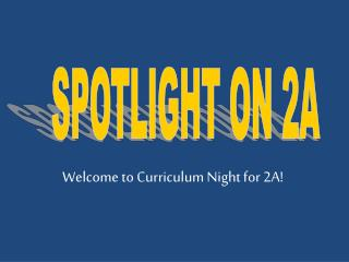 SPOTLIGHT ON 2A