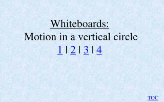 Whiteboards:  Motion in a vertical circle 1  |  2  |  3  |  4