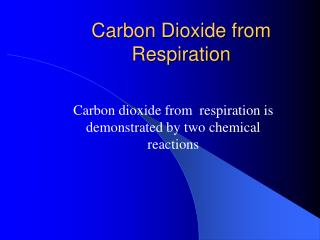 Carbon Dioxide from Respiration