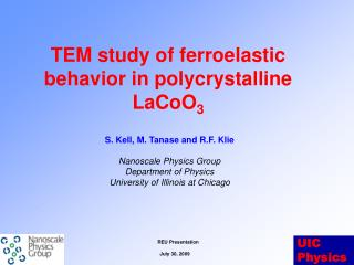 TEM study of  ferroelastic  behavior in polycrystalline LaCoO 3