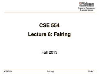 CSE 554 Lecture 6: Fairing