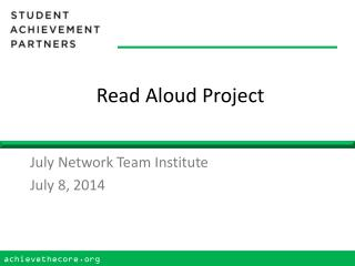 Read Aloud Project