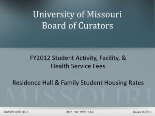 University of Missouri Board of Curators