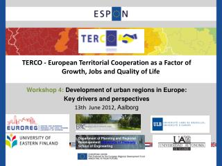 TERCO -  European Territorial Cooperation as a Factor of Growth, Jobs and Quality of Life