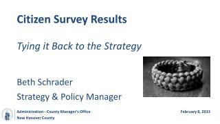 Citizen Survey Results