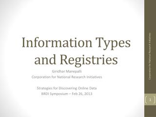 Information Types and Registries