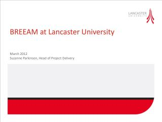 BREEAM at Lancaster University