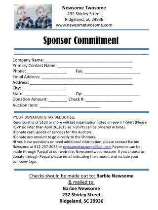 Sponsor Commitment