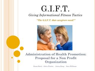 Administration of Health Promotion: Proposal for a Non Profit Organization