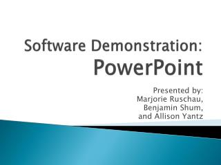 Software Demonstration: