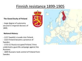 Finnish resistance 1899-1905