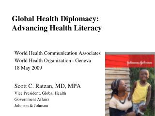 Global Health Diplomacy: Advancing Health Literacy