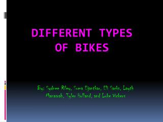 Different Types of Bikes