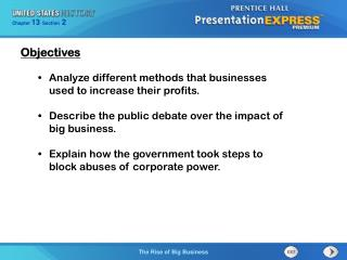 Analyze different methods that businesses used to increase their profits.